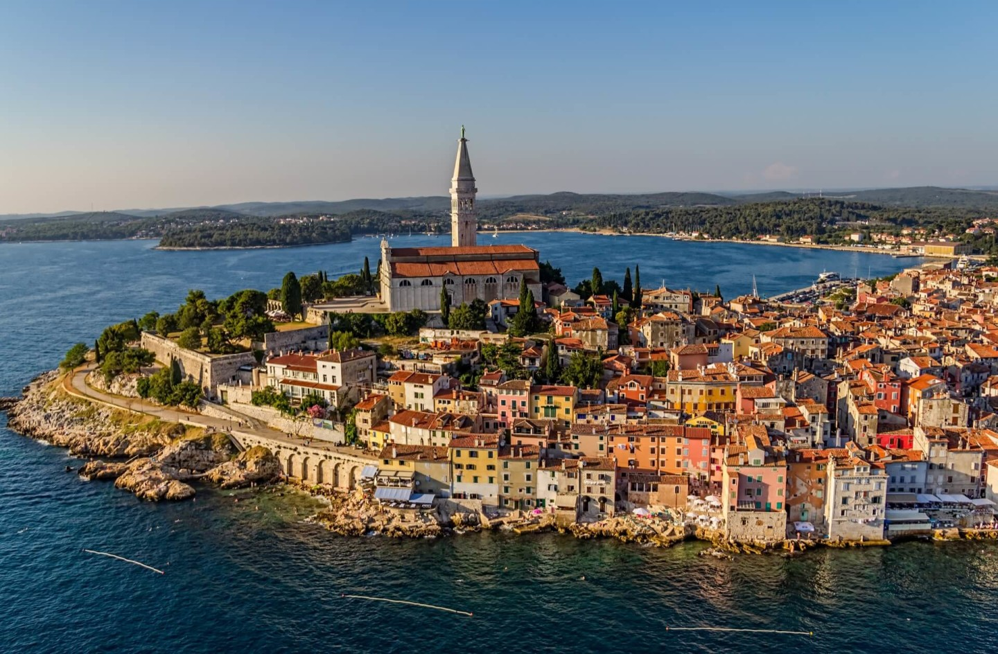 rovinj from the sky looking awesome and romantic special daily yacht cruises