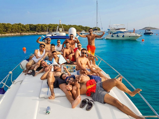 stag party summer stag in croatia daily yacht rental trips