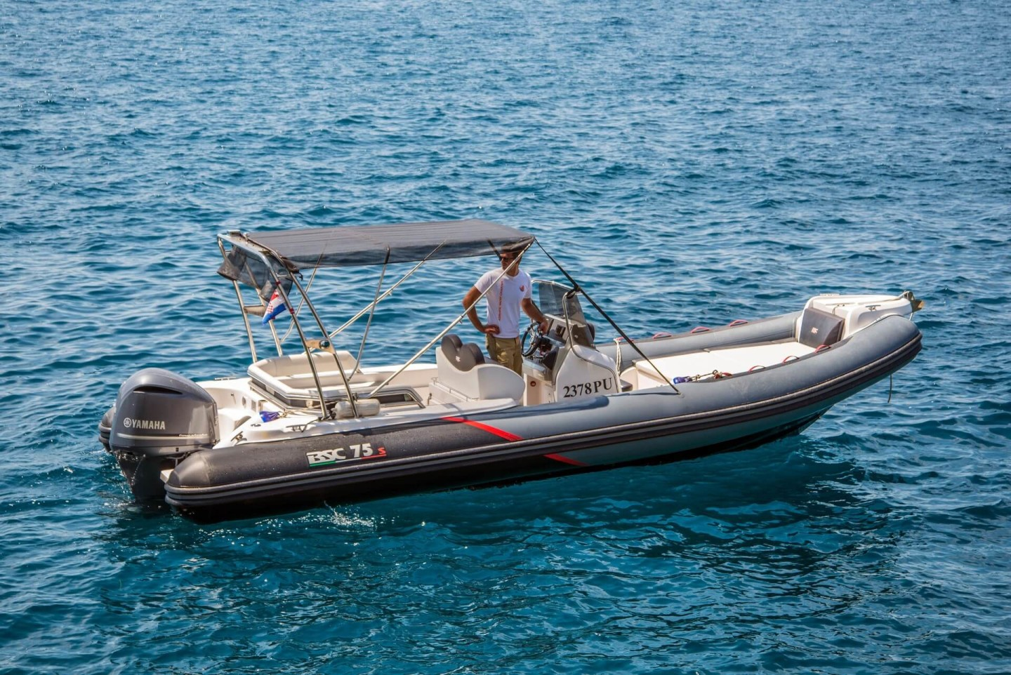 BSC 75 sport 2 day trips from pula motor boat charter rent istria croatia yamaha speedboat