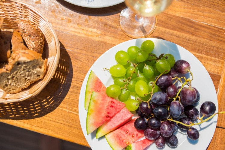 fine food stay fresh with snacks and food on your daily yacht rental