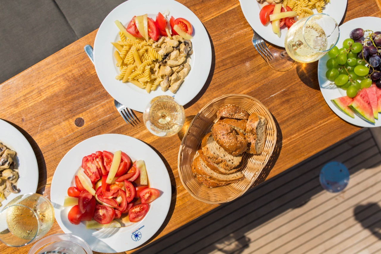 fine food refreshments daily yachting cruises in croatia