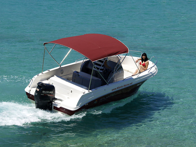Atlantic 670 Open daily speedboat rental holiday getaway