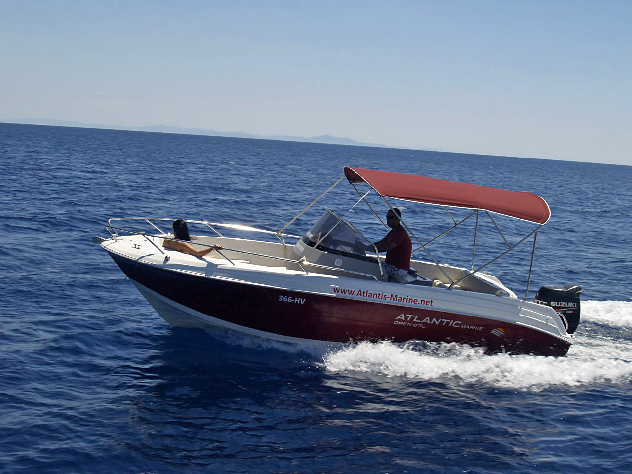 Atlantic 670 Open daily speedboat rental split hvar region