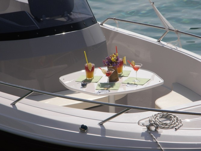 Atlantic 670 Open daily speedboat rental split region on sea
