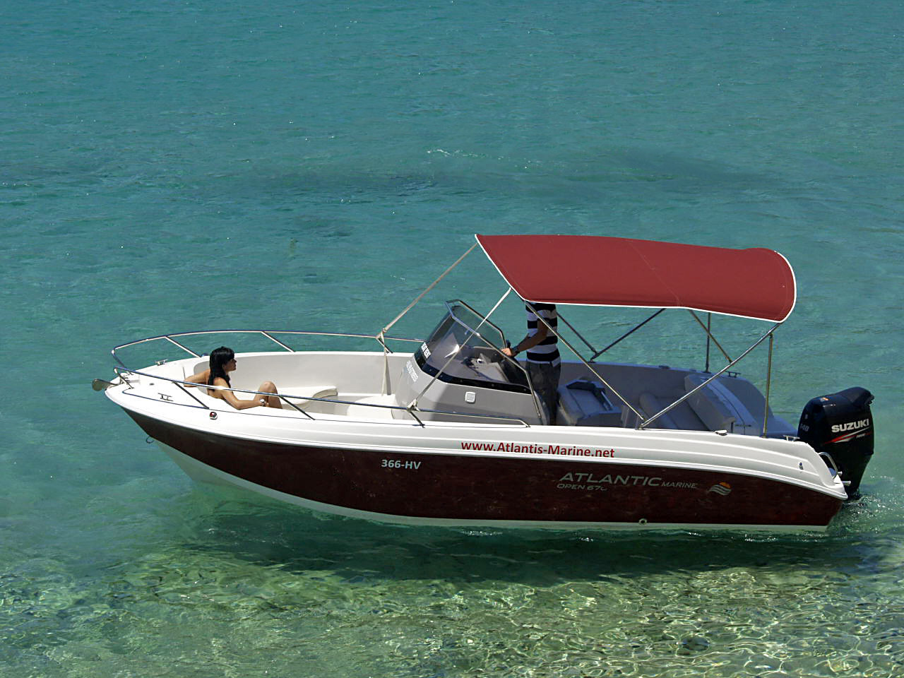 Atlantic 670 Open daily speedboat rental split summer holidays