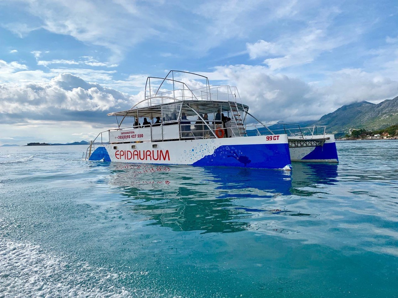 epidaurump catamaran yachting daily tour party
