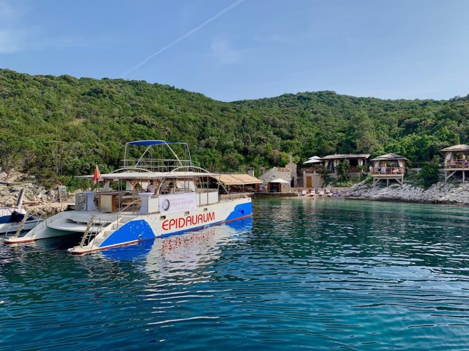 epidaurump catamaran yachting daily tour