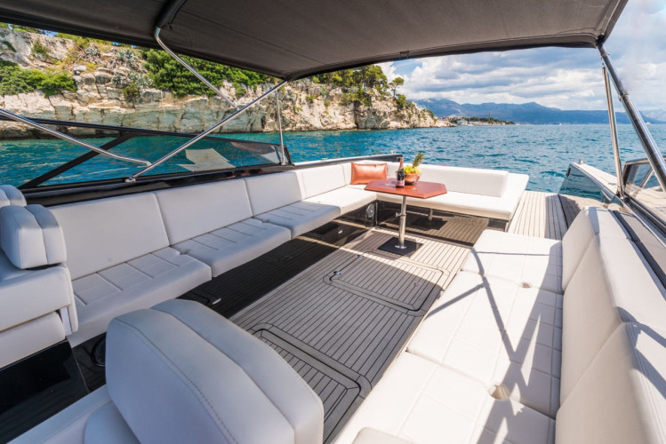 Colnago 45 rent luxurt motor yacht for a day in split party boat