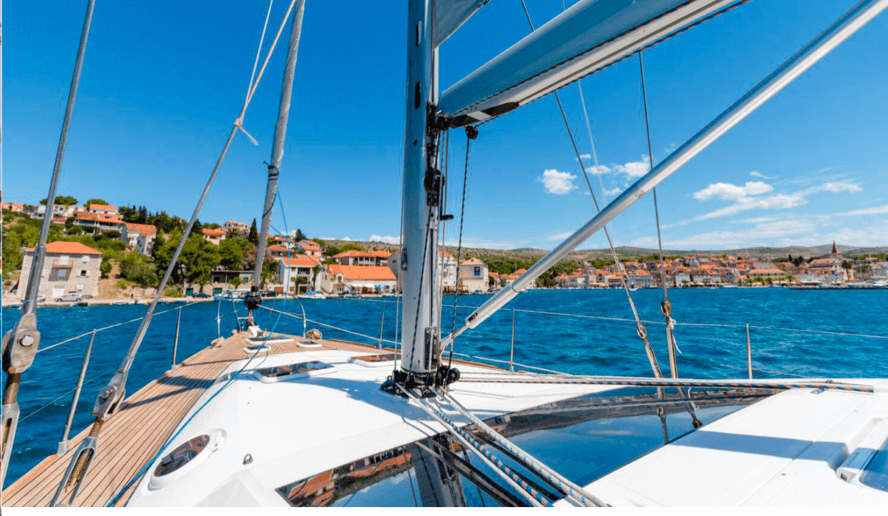 elan 415 impression daily and overnight sailing yacht cruises hvar bow sundeck