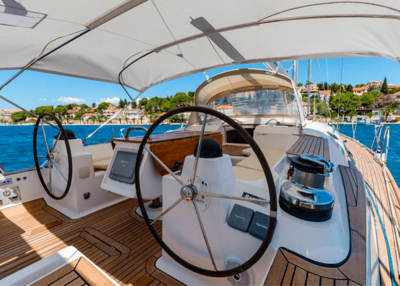 elan 415 impression daily and overnight sailing yacht cruises hvar spacious cockpit