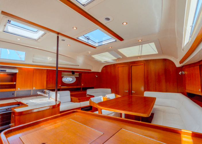 elan 415 impression daily and overnight sailing yacht cruises hvar spacious salon