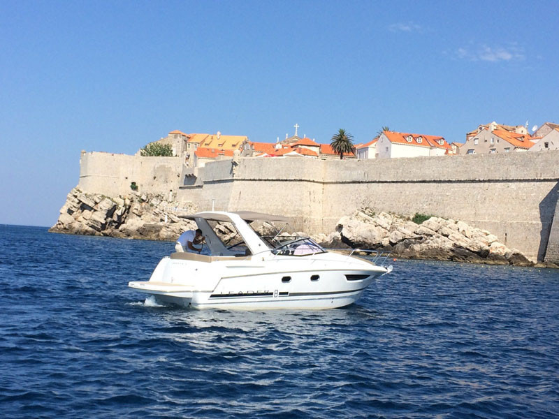 Jeanneau Leader 8 rental for day dubrovnik gane of thrones cruise