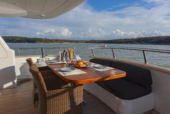 Luxury Cruise Istria to Venice 16 yacht dining with friends holiday party