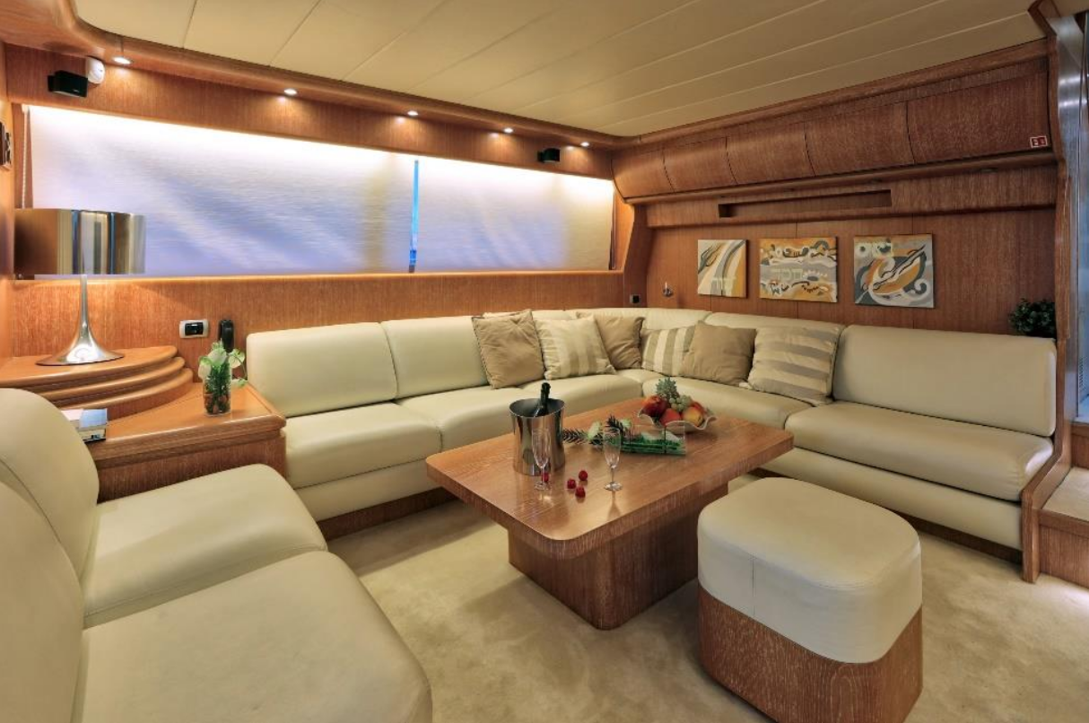 Luxury Cruise Istria to Venice 23 private experience yacht living space lounge daily trip