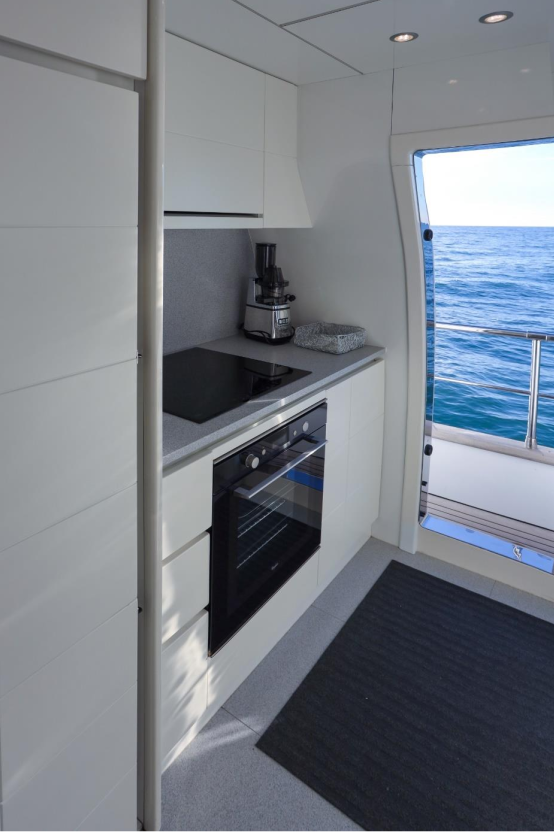 Luxury Cruise Istria to Venice 26 daily yachting experience kitchen