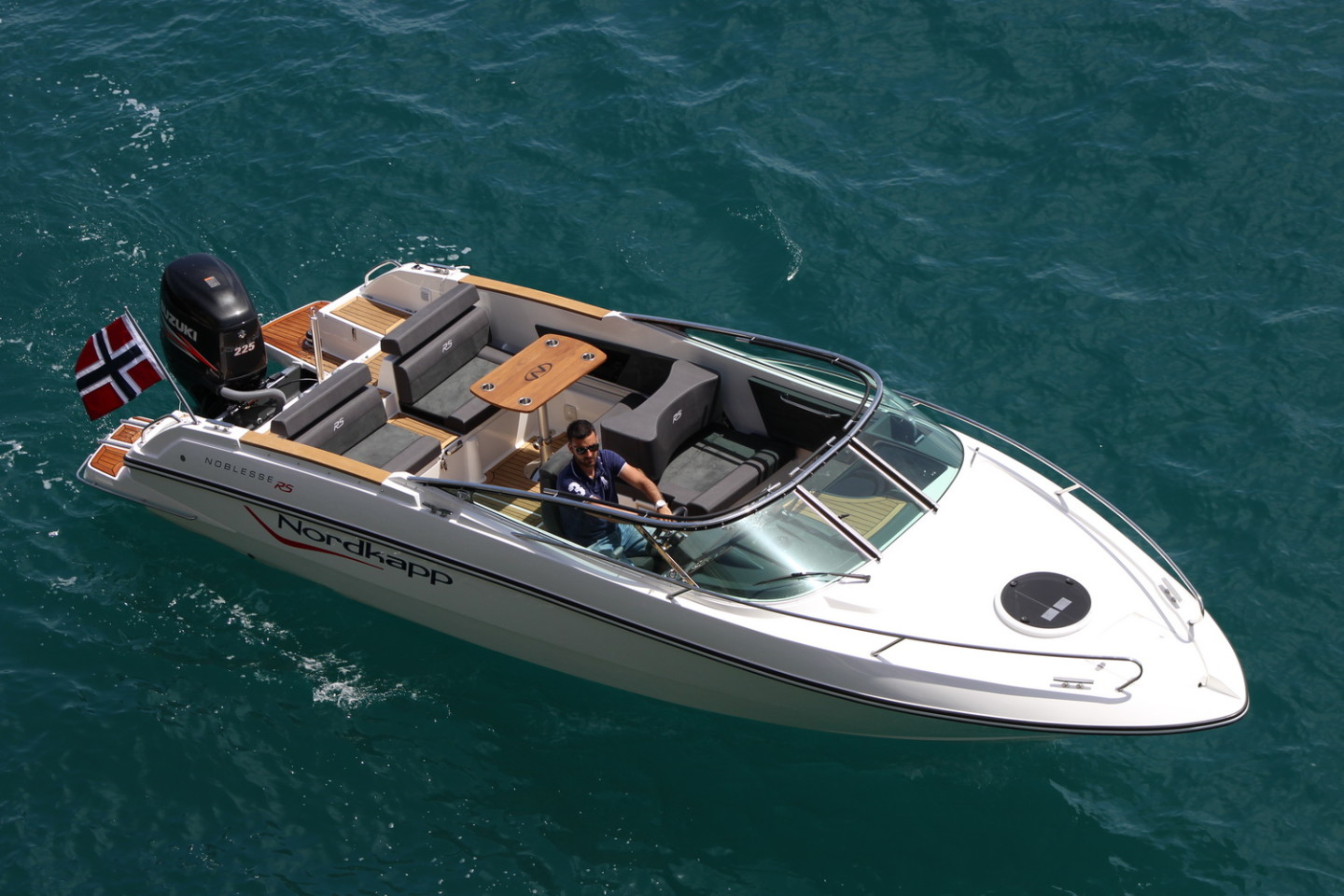 Nordkapp Noblesse 820 RS summer rent a boat for a day speedboat daily tour