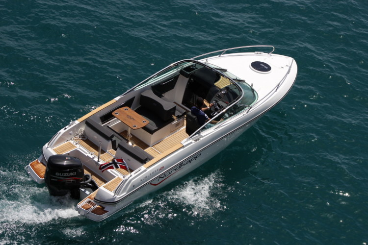 Nordkapp Noblesse 820 RS summer rent a boat for a day speedboat