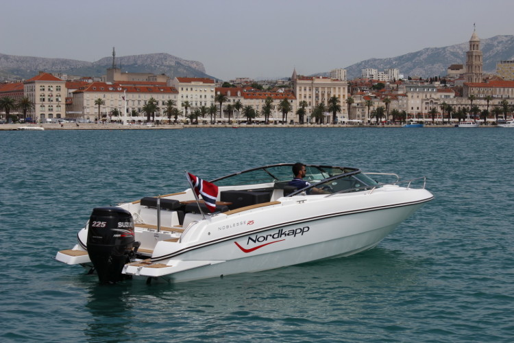 Nordkapp Noblesse 820 RS summer rent a boat for a day speedboat what to do in split