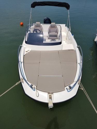 Quicksilver Active 605 2 paddle surfing island hopping trip charter rent hire party boat pomer istria pula croatia paddle surfing